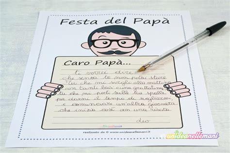 lettere per papa 12 letterine festa pap 224 da stare e colorare