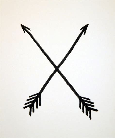 crossed arrows native american symbol for friendship i n