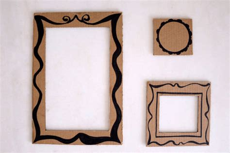 Handmade Cardboard Photo Frames - diy picture frame cardboard diy craft projects