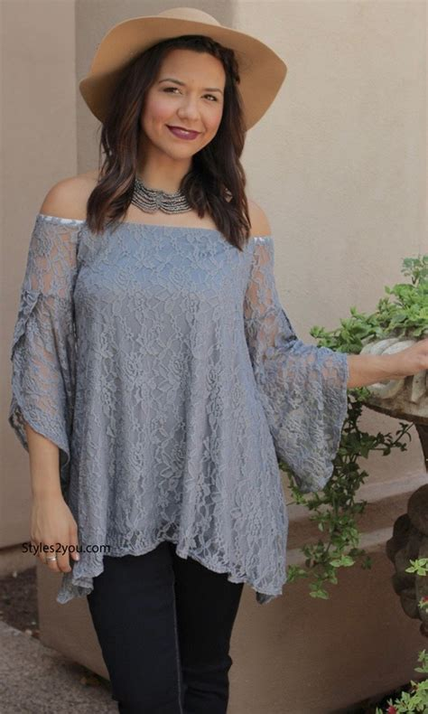 Cinday Blouse modern vintage lace blouse in gray verducci clothing lace blouse lace top