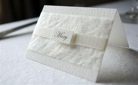 Wedding Card Name by Slatersparke Ltd White Wedding Place Name Card