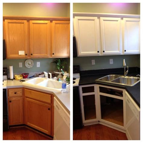 primer for kitchen cabinets oak cabinets builder grade and primer on pinterest