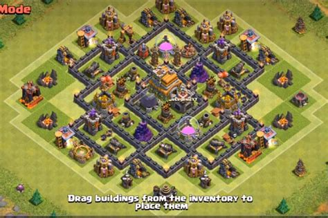 th7 base layout top 4 th7 war base without no barbarian king 2016 3 air