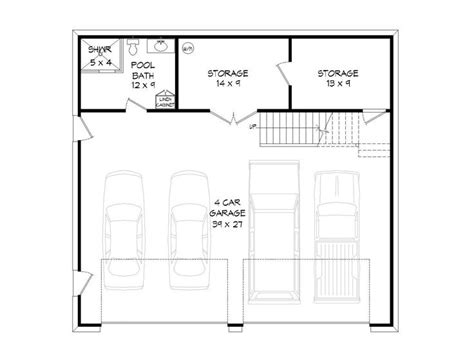 garages with lofts floor plans 4 car garage plans 4 car garage with loft 062g 0011 at