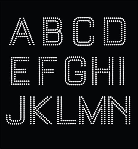 sale rhinestone template alphabet dxf svg pdf ai png by