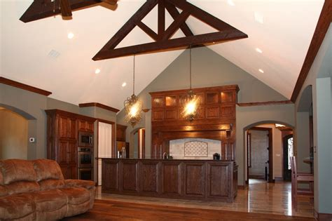 rustic open floor plans rustic kitchen open concept floor plan
