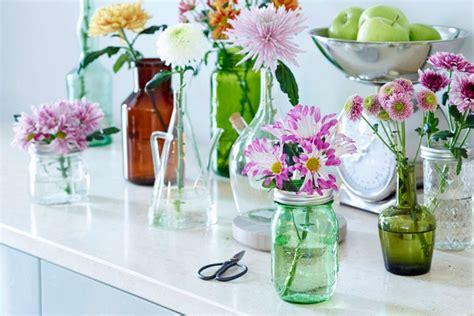 basteln mit gläsern deko blumen glas hochzeit