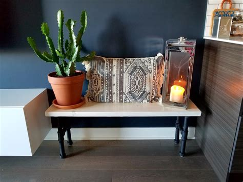 diy industrial bench industrial bench how to build a wooden bench with pipe legs