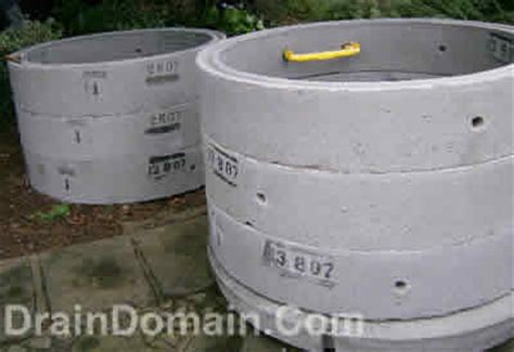 concrete chamber sections drainage manholes and inspection chambers