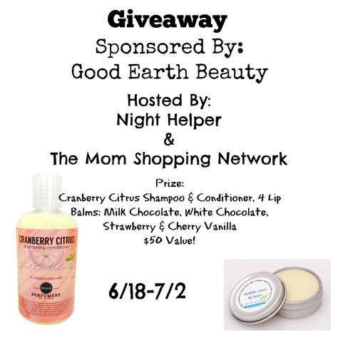 Beauty Products Giveaway - giveaway good earth beauty products planet weidknecht