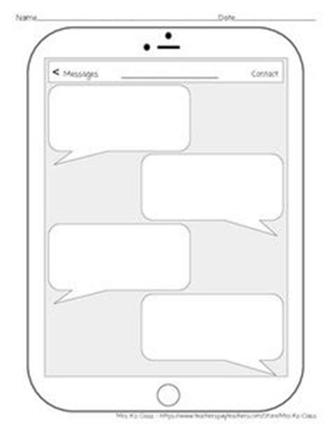 Iphone Template Teaching Pinterest Didactico Materiales Didacticos Y Molde Blank Iphone Texting Template