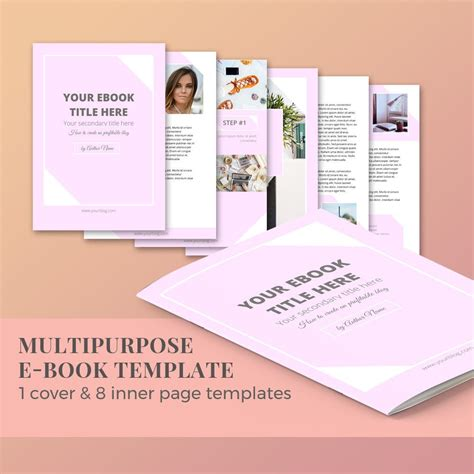 Ebook Template 10 Pages Magazine Template Word Template Ebook Template Docs
