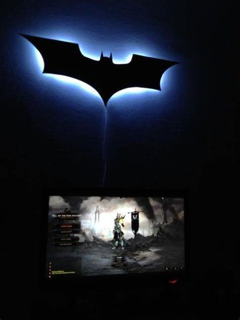 batman lights boys wall ls and cut outs on