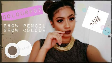 Colourpop Brow Pencil colourpop brow pencil brow colour review demo swatches