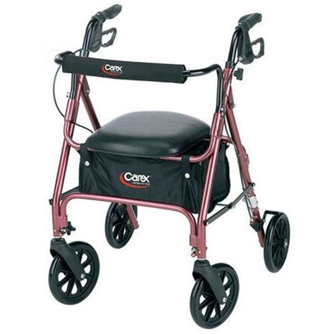 walker with seat and storage carex rolling walker rollator with padded seat and