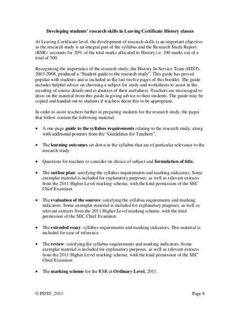 History Extended Essay Sle extended essay criteria history 2011