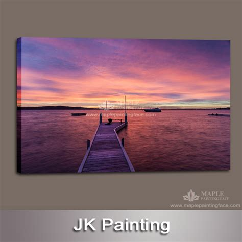 how to hang canvas without frame large seascape photo printing wall hanging painting