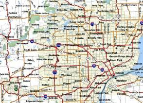 Map Of Detroit Michigan by Similiar Map Of Metro Detroit Mi Keywords