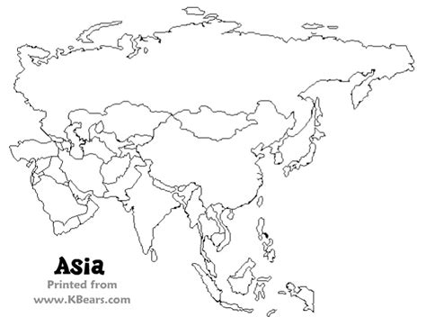 best photos of printable blank map of asia printable