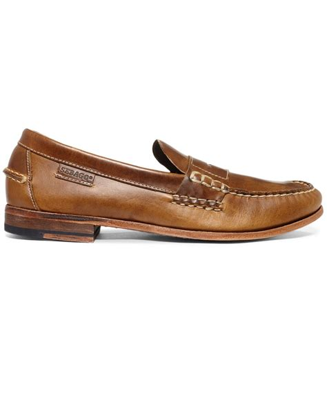 sebago loafers lyst sebago wicklow loafers in brown for