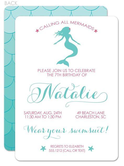 25 Best Ideas About Mermaid Party Invitations On Pinterest Mermaid Theme Birthday Under The Mermaid Birthday Invitation Templates