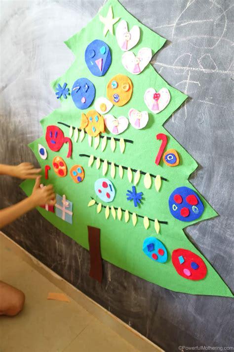 felt shingle tree diy christmas decorations kids will easy to make diy felt christmas tree activity for kids