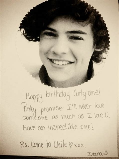 Harry Styles Birthday Card From Ivaanaortega One Direction S Harry Styles 19th