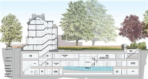 English Mansion Floor Plans by Tory Donor Edmund Lazarus Plans For Huge Basement