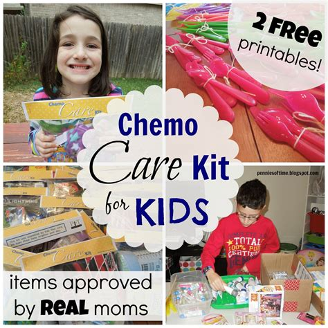 comfort items for chemo patients pennies of time chemo care kit for kids service project
