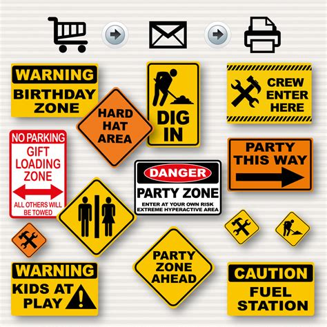 Construction Birthday Party Signs Party Signs Construction Free Construction Sign Templates
