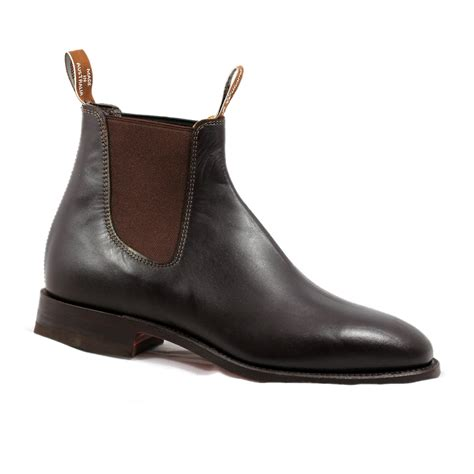 rm williams boots mens brown rm williams craftsman mens pull on jodphur chelsea