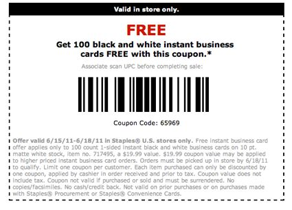 Staples Business Cards Prices