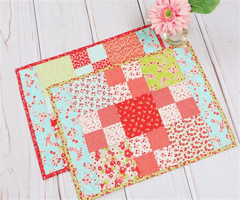 sewing pattern for quilted placemats fat quarter shop s jolly jabber how to make a beginner