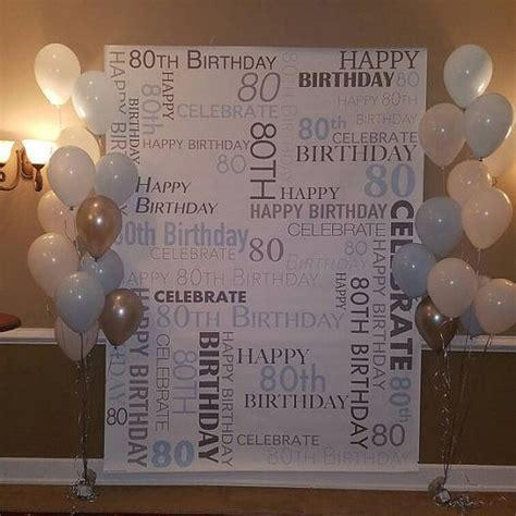 CUSTOM 80th Birthday Party Backdrop Personalized Vinyl