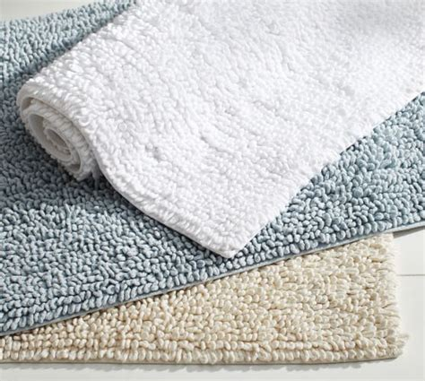 cotton bathroom rugs cotton twist bath rug pottery barn