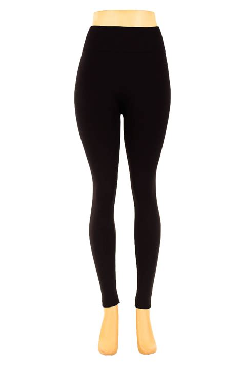 40199 Black Lined Tight Size S מוצר womens fleece lined warm winter thick thermal solid regular plus size