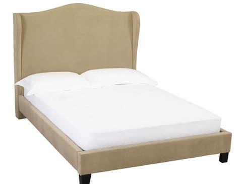 Beige Bed Frame Summerson Beige Velvet Bed Frame