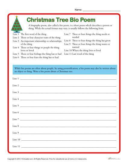 bio poem worksheet facialreviveserum com christmas tree bio poem printable bio poem worksheet