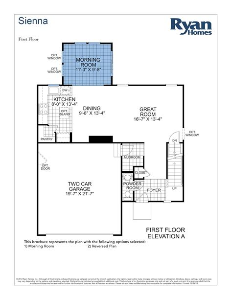 ryan homes genevieve floor plan ryan homes sienna floor plan sienna ryan home floor plan
