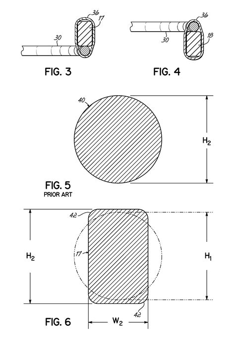 wire cross section patent us20140283309 spring core having border wire with