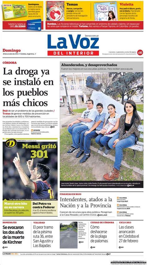 periodico la voz interior cordoba argentina peri 243 dico la voz interior argentina peri 243 dicos de