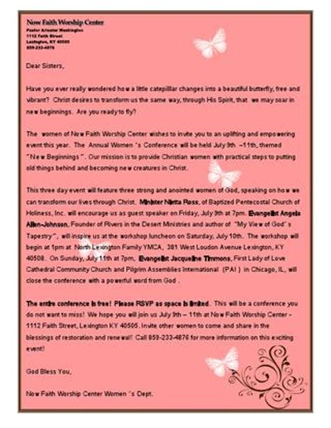 Christian S Conference Invitation Letter Nfwc S Conference Invite Letter By Clarissa Roan Issuu