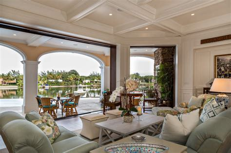 tranquil living room tranquil living room with waterfront views traditional living room miami by beres design