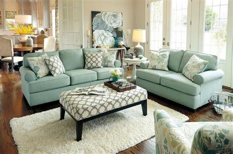 green ashley furniture couch ashley daystar seafoam light green vintage modern beach