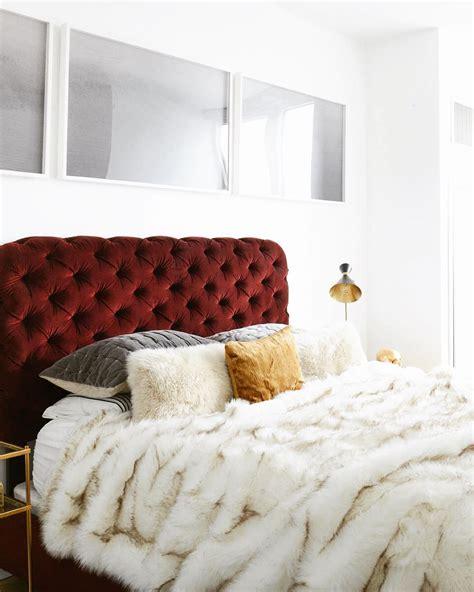 red velvet headboard 12 marvelous ways to use velvet in your home