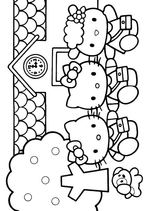hello kitty coloring pages on coloringpagesabc com