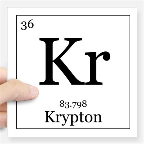 Krypton L by Periodic Table Krypton Car Accessories Auto Stickers