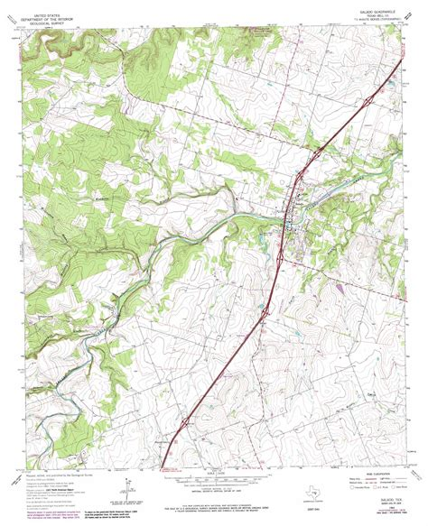 map of salado texas salado topographic map tx usgs topo 30097h5
