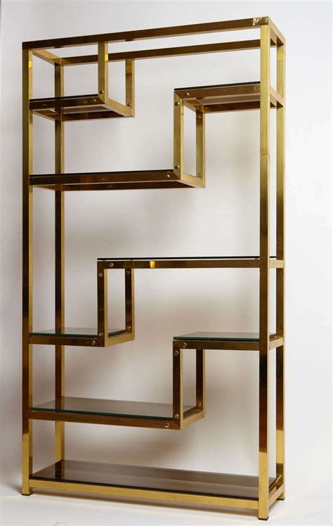 golden bookshelf at 1stdibs