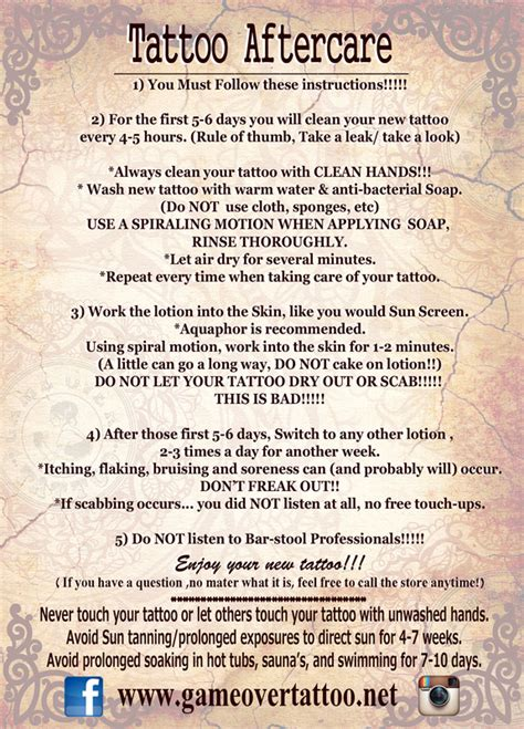 tattoo aftercare how to wash after care